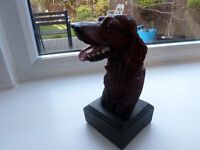 Red Setter statue