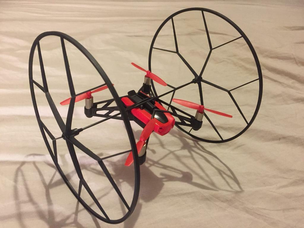 Parrot mini drone quadcopter rolling spider - red