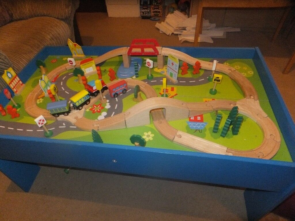 Chad Valley Kids Wooden Table and Train Set excellent condition | in ...