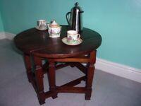 Vintage Retro Solid Oak Coffee Table