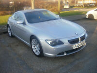 BMW 645ci - Low Miles- P/x with LHD car or Bike-