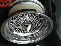 15x7 100 Spoke wire wheels (deep dish)