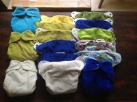 16 Wonderoo pocket reusable nappies