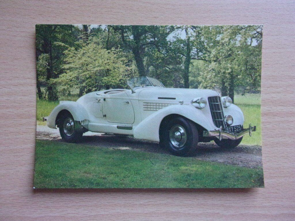 VINTAGE 1935 AUBURN 851 SUPERCHARGED SPEEDSTER. CLASSIC CARS. VERY CLEAN REAL PHOTOGRAPH POSTCARD.