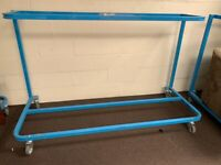 STEELY MOBILE SOFA SUITE FURNITURE STAND TROLLEY HEAVY DUTY 130KG PER LEVEL