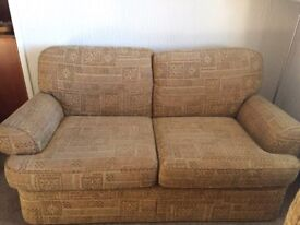 2 seater and 2 chairs - new low price for quick sale