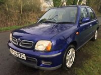 2002 IMMACULATE CONDITION NISSAN MICRA TEMPEST 5 DR, ONLY 72K MILES,NISSAN SERVICE HISTORY,10 STAMPS
