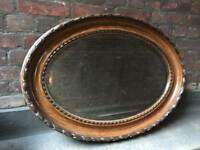 Solid wooden carved mantle mirror