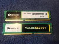 Corsair Value Memory 4GB DDR3 1333 Mhz CAS 9 Dual Channel Desktop
