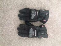 RST outlast motorbike gloves.