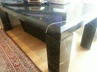Black marble effect coffee table