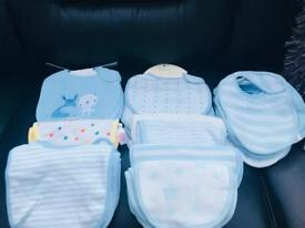 Baby boy bundle of bibs