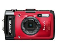 Olympus Tough TG-2 iHS 12.0MP Digital Camera - Red