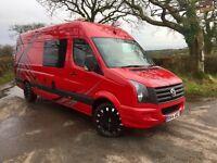 Volkswagen crafter campervan/race van/ motocross camper