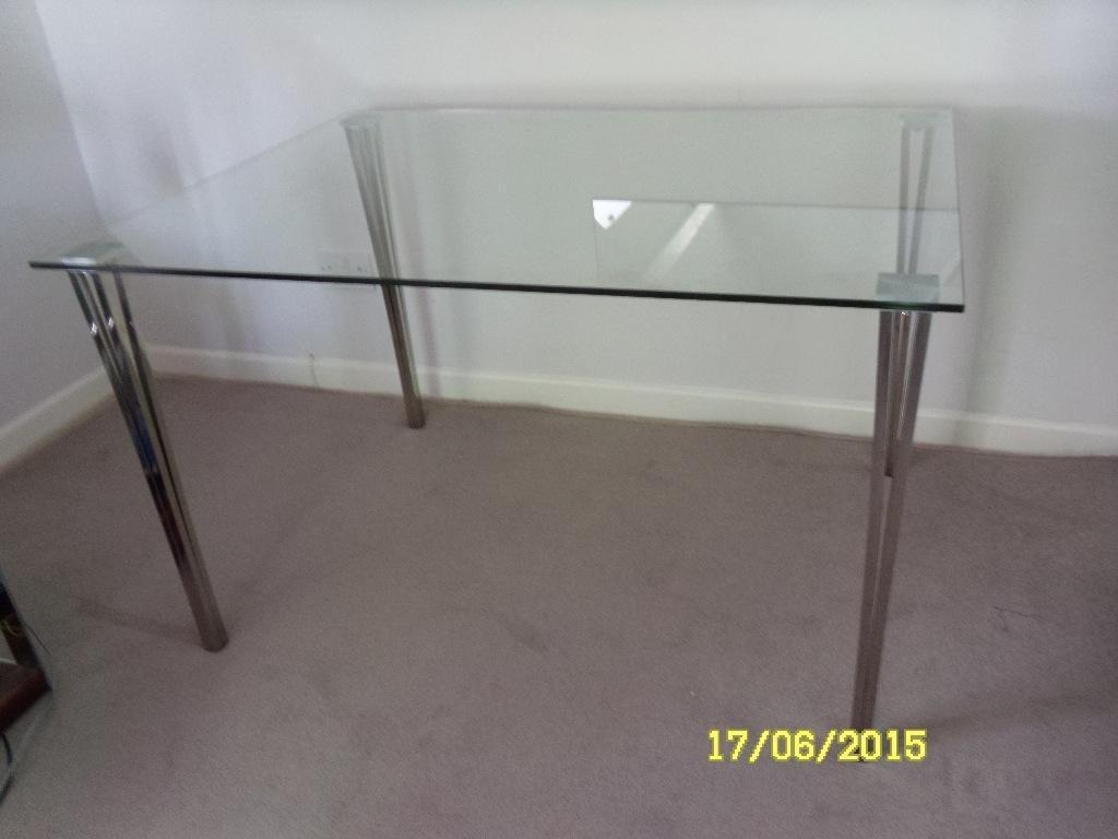 Fabulous John Lewis Glass amp Steel Dining Table Excellent  : 86 from www.gumtree.com size 1024 x 768 jpeg 50kB
