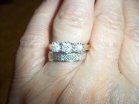 9ct gold diamond ring size p