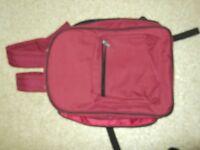 rucksack/cool bag maroon in colour