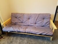 Cuba Futon Sofabed Reversible Charcoal / Black, Double,