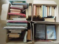 4 small boxes of books