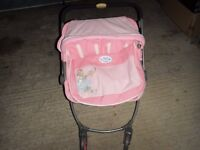 Zapf Creation Baby Born Double Jogger / Stroller / Buggy for Twin Dolls; Excellent Condition