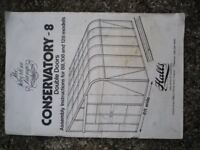 Halls Silverline 8ft x 10ft Lean-to Greenhouse/Conservatory, complete but never assembled!