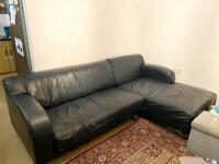 DFS Leather L shape sofa