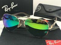 SunglassesRB8313Polarized&& Rayban₄Aviator Glod/Green BN 001/51 61mm
