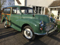 1967 MORRIS MINOR 1000 TRAVELLER, nicely restored example with huge History file