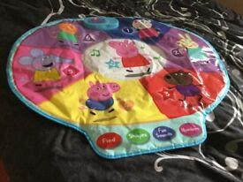 Peppa pig interactive learning play mat