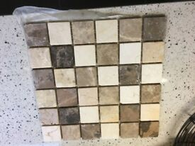 12 new Mosaic tiles 30 cms x 30 cms BELFAST NEWCASTLE can meet deliver if required fabulous quality