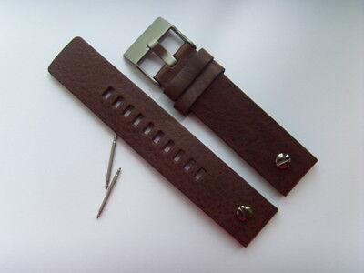 DIESEL Original Ersatzband Lederarmband DZ7339 Uhrband braun watch strap brown