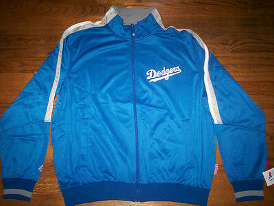 LOS ANGELES DODGERS NEW MLB MAJESTIC AUTHENTIC TRACK JACKET ()