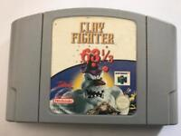 Nintendo 64 clay fighter game. N64