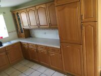 Country Style Kitchen Cabinets and appliances for sale! Urgent sale required.