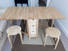 Dining table - 6 drawers + 4 stools