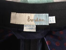 Boden black jacket size 14. Never worn. Excellent condition.