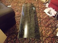 curved bath shower panel brown glass been in storage never used