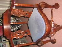 corner chair - beautiful - STUNNING INTRICATE CARVING AND DESIGN.
