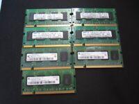 512MB, 1GB, 2GB, 4GB DDR2,DDR3 PC2& 3 LAPTOP RAM MEMORY PC3 L/S SAMSUNG,RAMAKEL 12800S/L RRP £12.99