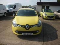 RENAULT CLIO 1.2 16V Dynamique MediaNav 5dr (yellow) 2013