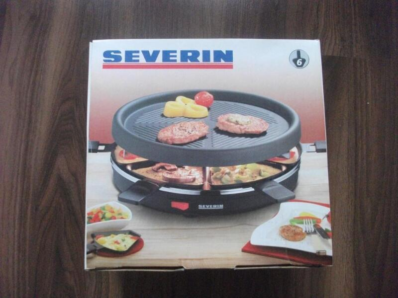 severin raclette partygrill 6pf nn 850 w rg 2671 neu. Black Bedroom Furniture Sets. Home Design Ideas