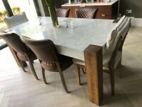 Timothy oulton marble table and chairs