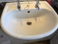 Bathroom white vanity sink