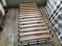 Single foldaway bed and mattress