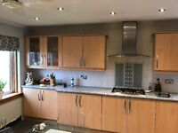 Beach kitchen with cooker, hob, extractor & sink. Worktops available if required