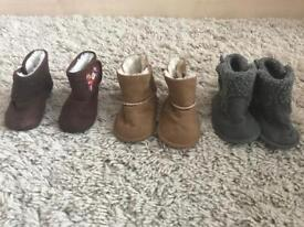 Baby girl boots Mothercare