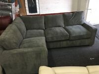 New/Ex Display Dfs Grey Fabric Corner Sofa