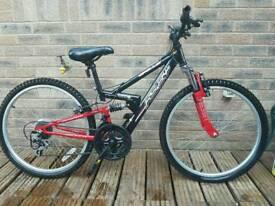 Apollo FS24 Full Suspension Kids Mountain Bike