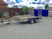 3.5 Ton Indespension Plant Trailer, good working order, lights, brakes, tyres, plus new spare .