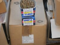 job lot unifix gold wood screws 2800 5 x 70mm 100 screws per box 28 boxes